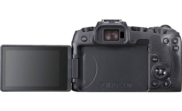 Canon EOS RP Telephoto Zoom Kit Back, with rotating touchscreen flipped outward