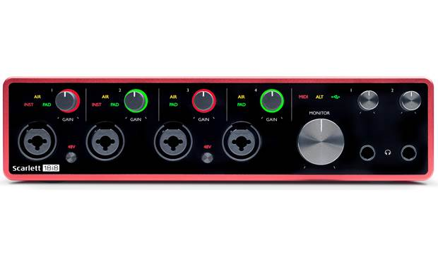 Focusrite Scarlett 18i8 (3rd Generation) Illuminated, color-coded