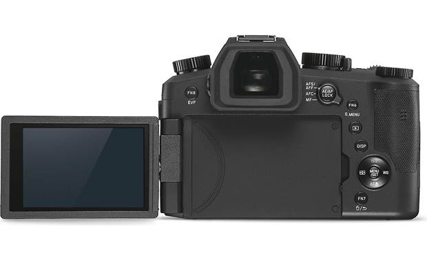 Leica V-Lux 5 Back, with touchscreen rotated outward
