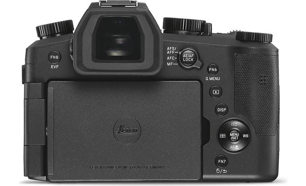Leica V-Lux 5 Back, with rotating touchscreen facing inward