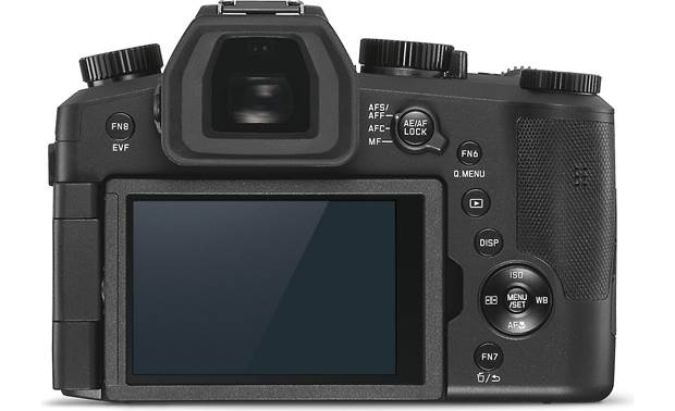 Leica V-Lux 5 Back, with rotating touchscreen facing out