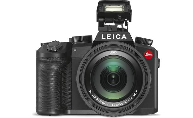 Leica V-Lux 5 Shown with pop-up flash deployed