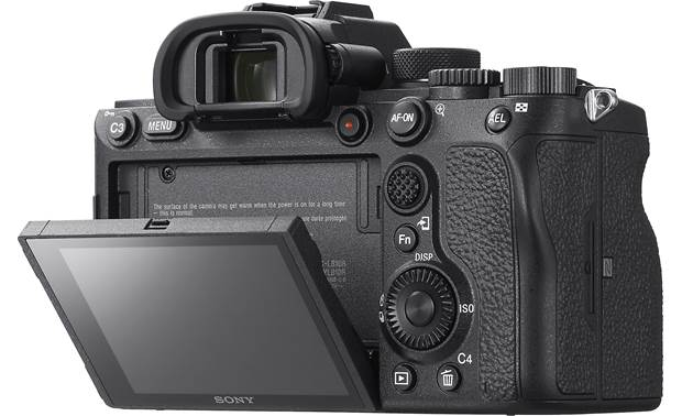 Sony Alpha a7R IV (no lens included) Shown with touchscreen tilted downward