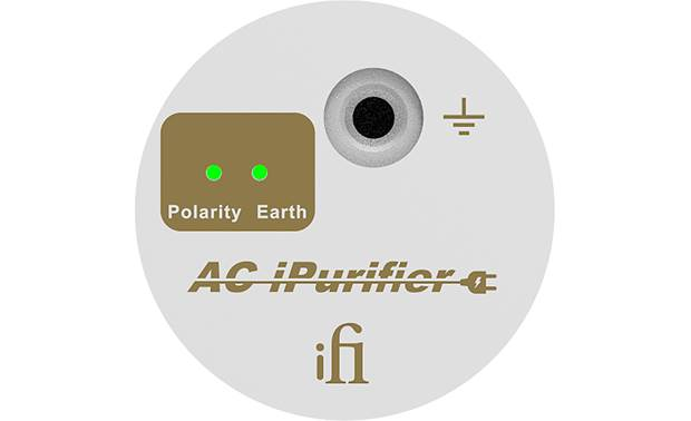 iFi Audio AC iPurifier Front (LED lights indicate ground and polarity statuses)