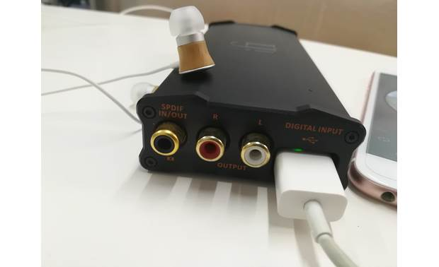 iFi Audio micro iDSD Black Label Connects to your iPhone with Apple Lightning adapter (sold separately)