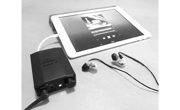 iFi Audio nano iDSD Black Label Connects to your iPad via Apple Lightning adapter (sold separately)