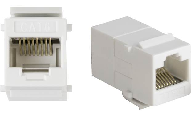 Metra RJ-45 Keystone Couplers (5 Pack) Connect two Ethernet cables together at the wall