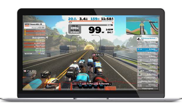 Tacx Flux S Smart Compatible with online training apps.
