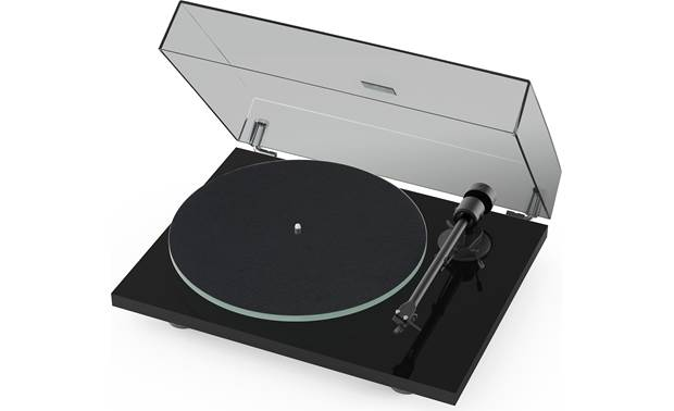 Pro-Ject T1 Shown with dust cover and felt mat