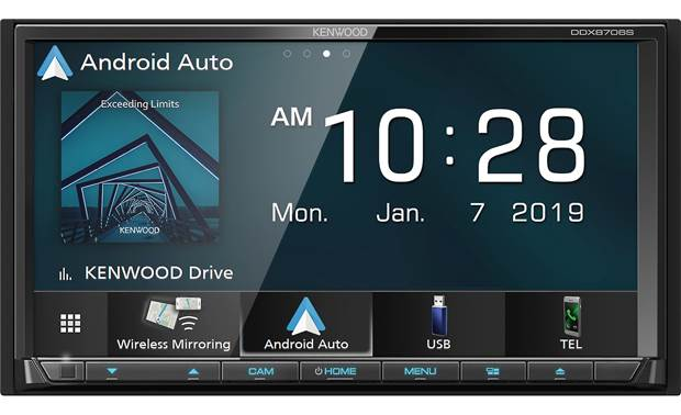 Kenwood DDX8706S Kenwood's big-screen beauty gives you lots of wireless and wired options