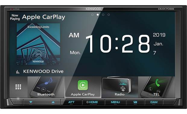 Kenwood DMX706S 7 Digital Media Receiver with Apple CarPlay and Android Auto