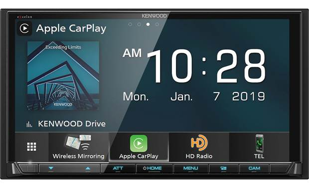 Kenwood Excelon DMX906S Wireless Apple Carplay and wireless Android Auto make smartphone integration more convenient