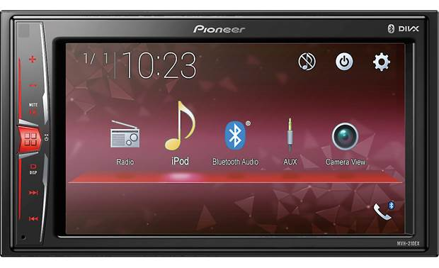 Pioneer MVH-210EX Step up your system with touchscreen control and Bluetooth compatibility