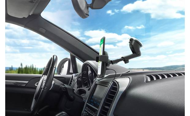 iOttie HLCRIO134AM The suction mount and telescoping arm work just as effectively from the windshield