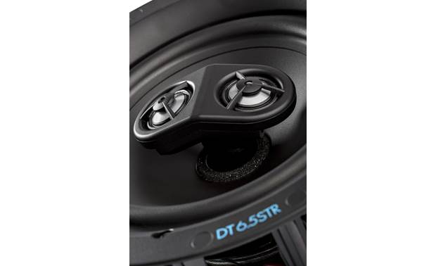 Definitive Technology DT6.5STR Dual tweeters play the left and right channels of a stereo mix