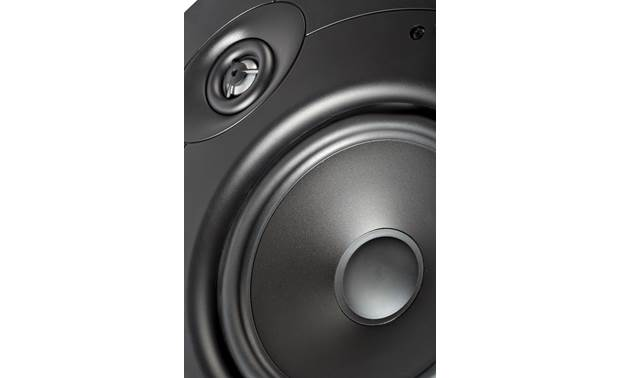 Definitive Technology DT8LCR Close-up view of woofer and tweeter