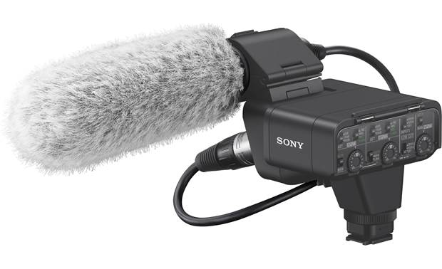 Sony XLR-K3M Shown with included mic and wind screen