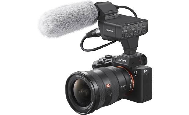 Sony XLR-K3M Shown mounted on camera (not included)