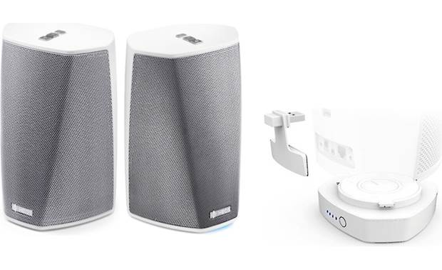Denon HEOS 1 & Go Pack Bundle White - bundle includes two HEOS 1 speakers and one HEOS Go-Pack