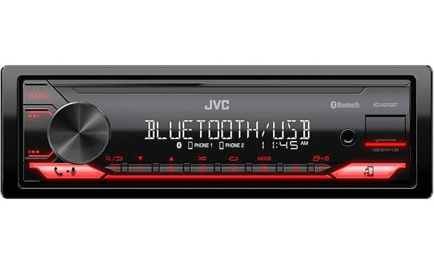 JVC KD-X270BT Prioritize hands-free calling and music streaming in your car with this sleek JVC stereo