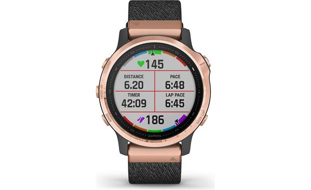 Garmin fenix 6S Sapphire Selectable display fields