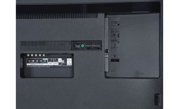 Sony XBR-75X800G Back (rear- and down-facing A/V connections)