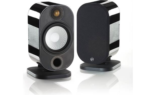 Monitor Audio Apex A10 Shown as a pair with one grille removed (speakers sold individually)