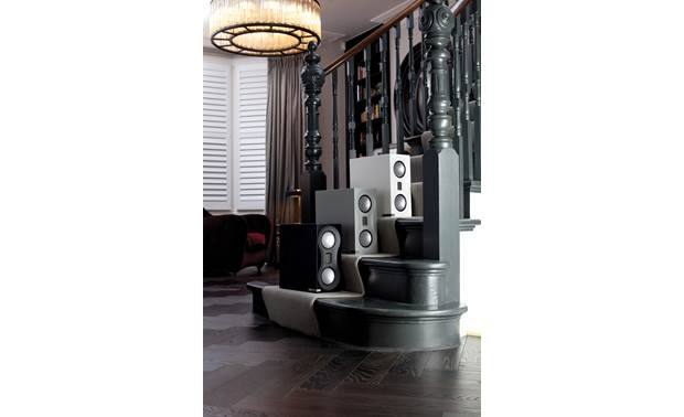 Monitor Audio Studio  Shown alongside satin gray and satin black finishes