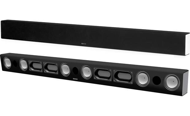Monitor Audio SB-4 The bar has 3 tweeters, 6 mid/bass drivers, and 4 racetrack-style Auxiliary Bass Radiators (ABRs)