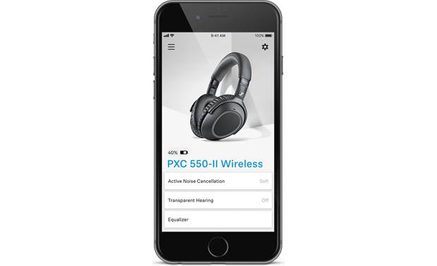 Sennheiser PXC550-II Wireless The free Sennheiser Smart Control app lets you adjust the noise cancellation and sound