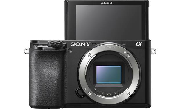 Sony Alpha a6100 (no lens included) Shown with touchscreen facing forward
