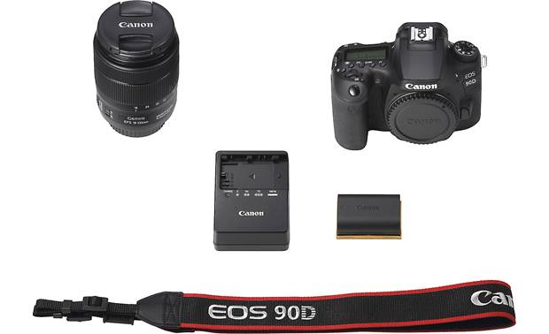 Canon EOS 90D Telephoto Lens Kit Shown with included accessories