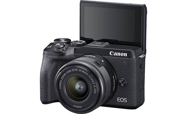 Canon EOS M6 II Kit Shown with touchscreen facing forward