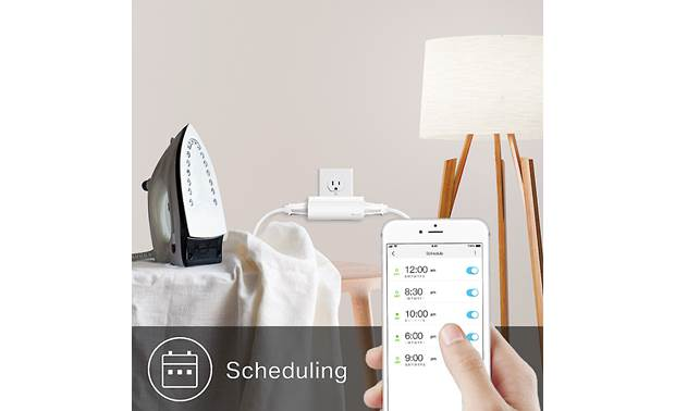 TP-Link HS107 Smart Plug Schedule and control connected lights or appliances from anywhere via the free Kasa Smart app