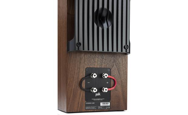 Polk Audio Legend L200 Enhanced Power Port® reduces noise and increases bass output compared to traditional round or slot-firing ports