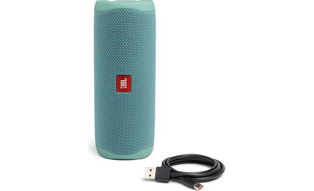 JBL Flip 5 Teal - with included charging cable