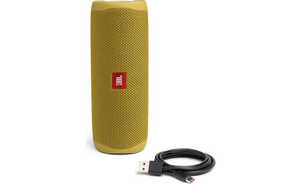 JBL Flip 5 Yellow - with included charging cable