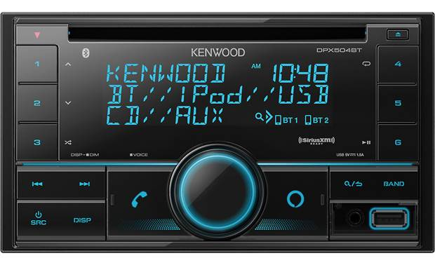 Kenwood DPX504BT You can use this receiver's big buttons, Alexa voice control, or Kenwood's Remote app to get to your music