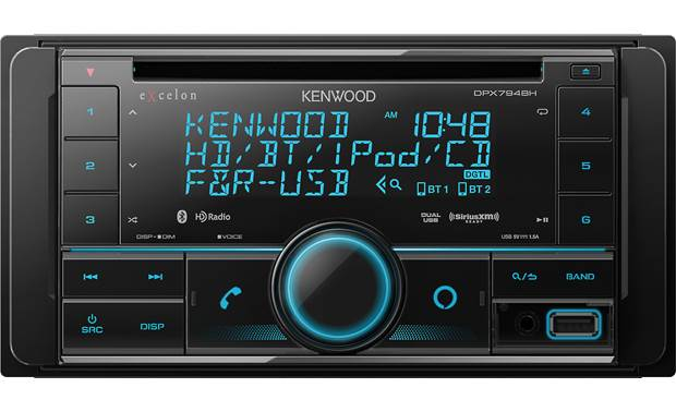 Kenwood Excelon DPX794BH A big-buttoned layout lets you control HD Radio stations, SiriusXM channels, and your smartphone's music