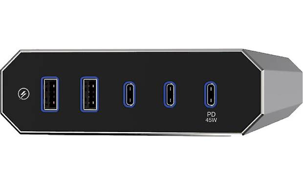Austere VII Series Power (6 outlets) Five protected USB charging ports (2 USB-A, 2 USB-C, and 1 USB-C PD port for charging a laptop)