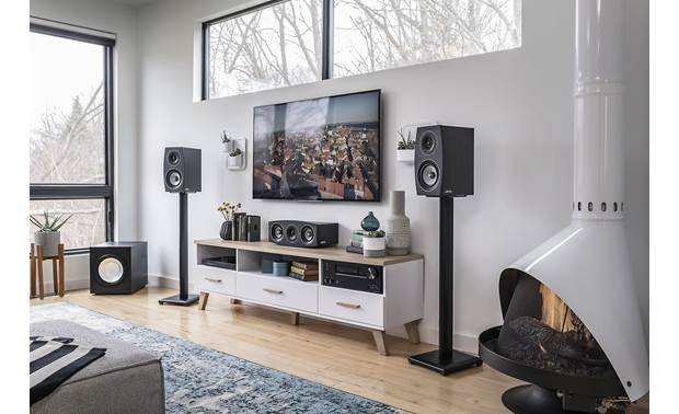 Jamo Concert 9 Series C 93 II Shown as part of a Jamo home theater system