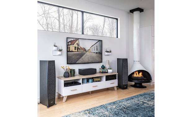 Jamo Concert 9 Series C 95 II Shown as part of a Jamo home theater system