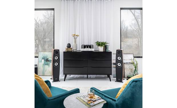 Jamo Concert 9 Series C 95 II Shown as part of a Jamo hi-fi system