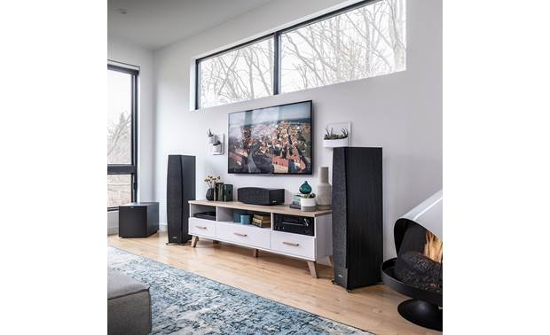 Jamo Concert 9 Series C 97 II Shown as part of a Jamo home theater system