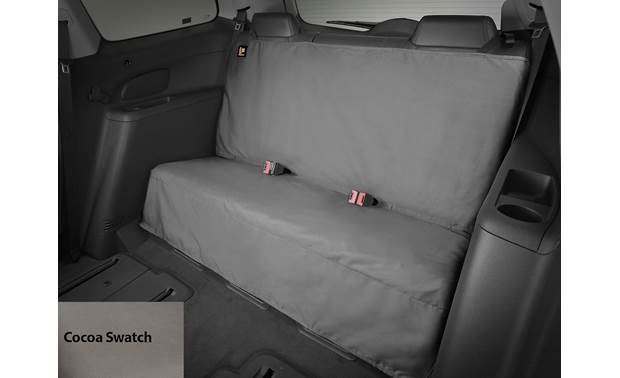 WeatherTech Seat Protector Black shown (with cocoa swatch)