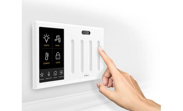 Brilliant Smart Home Control The home screen can display up to 4 pinned icons, including scenes that you create