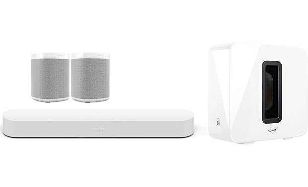 Sonos Beam 5.1 Home Theater System with Sonos One SL Speakers Front