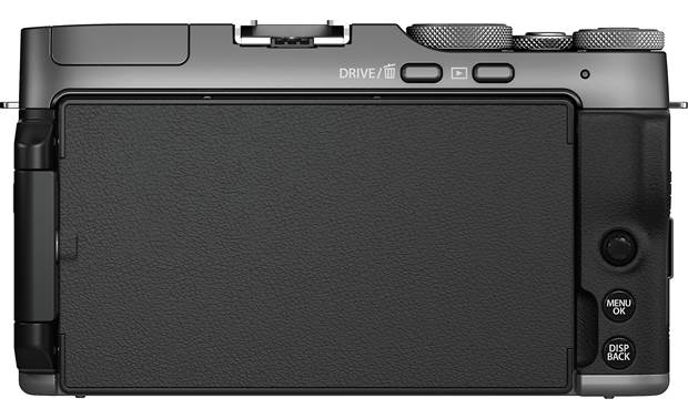 Fujifilm X-A7 Kit Back, with rotating touchscreen folded in