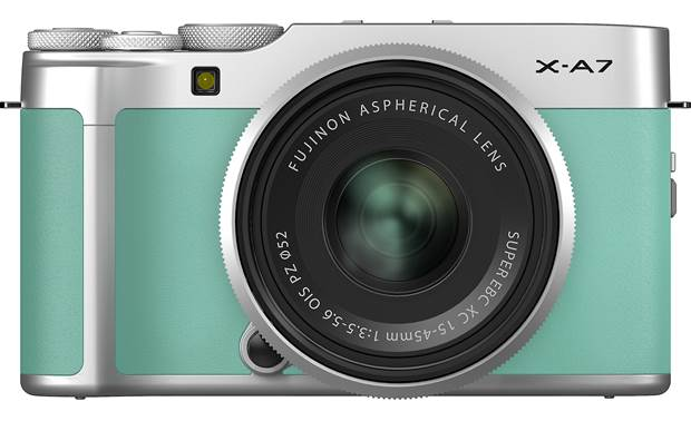 Fujifilm X-A7 Kit Front, straight-on