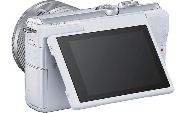 Canon EOS M200 Kit Shown with touchscreen tilted upward